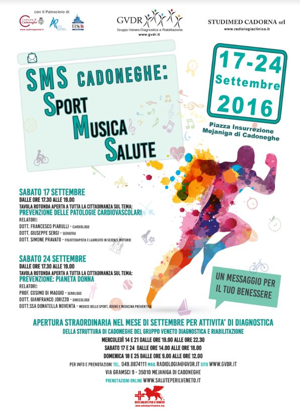SMS Cadoneghe: Sport Musica Salute 17-24 Settembre 2016