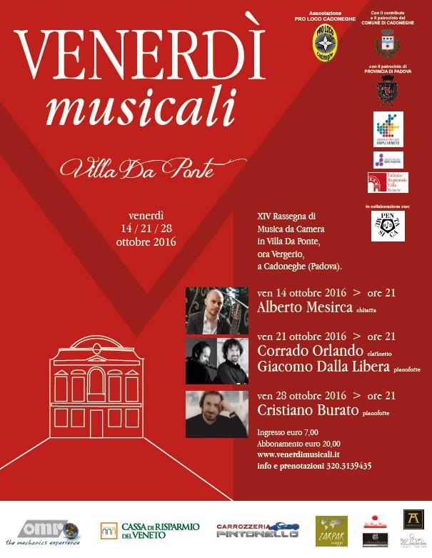 Venerdì Musicali 2016 - XIV edizione